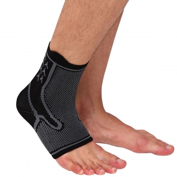 Tất bảo vệ mắt cá chân đàn hồi AL7136 đen